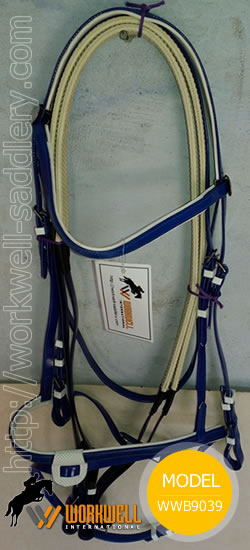 Synthetic Beta Biothane Bridles for Horses in Navy Blue ~ workwell saddlery