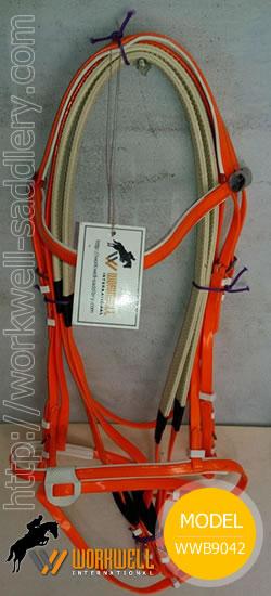Synthetic Beta Biothane Bridles for Horses in Orange~ workwell saddlery