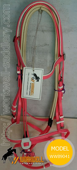 Synthetic Beta Biothane Bridles for Horses in Pink ~ workwell saddlery