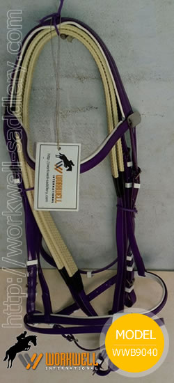 Synthetic Beta Biothane Bridles for Horses in Purple~ workwell saddlery